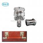 Wholesale H057 Australia Style Metal Coffin Handles Zamak Fix bar handles from china suppliers