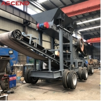 Buy cheap Mobile Portable Stone Jaw Crusher Wheel Type Diesel Engine Jaw Crushing Plant from wholesalers