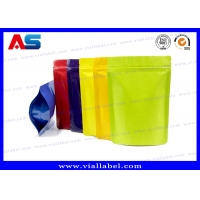 China Black Aluminium Foil Ziplock Bag With 7cm width 10cm Tall Dimention For Capsules Package on sale