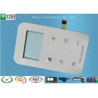 Wholesale White Tactile Key Membrane Switch , high glossy  PET Embossed Button Membrane Control Panel from china suppliers