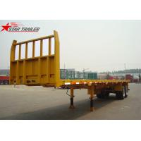 Wholesale 2- Axis 40 Foot Flat Deck Semi Trailer Baffle 8 Tires 13T FUWA Axles In Yellow from china suppliers