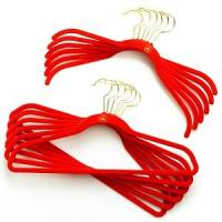 Wholesale Plastic Cltoehs Hanger, Flocked Clothes Hanger (LD-S064) from china suppliers