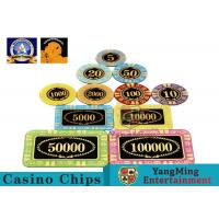 Wholesale Personalized High Transmittance Crystal Casino Poker Chips Round Shape For Gambling Club from china suppliers