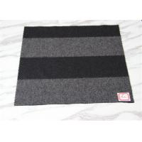 57 Inch Black  Green Lightweight Wool Fabric Over Coating With Grey Stripe
