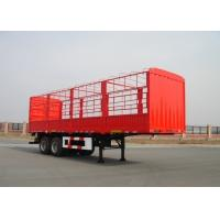 Wholesale 10m Carbon Steel Drop Side Trailer 2 Axles With Side Wall And Cargo Fence from china suppliers
