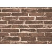 China Moisture Proof 3d Brick Effect Wallpaper Waterproof Vinyl Wall Covering Size 0.53*10m on sale