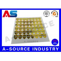 Wholesale Gold Security Anti Counterfeiting Custom Hologram Sticker With Serial Number from china suppliers