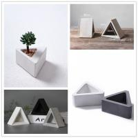Triangle shaped vase silicone concrete molds clay crafts for Concrete craft molds