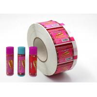 Wholesale Hard - Wearing Custom Adhesive Labels Pink Color Non Toxic For Lip Balm from china suppliers