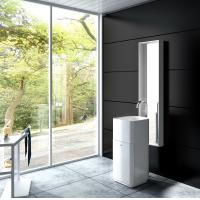 Wholesale White Resin Freestanding Bathroom Basin Freestanding Pedestal Sink from china suppliers