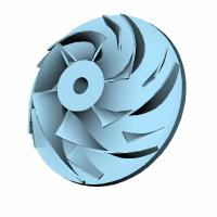 Wholesale Curved blade disc turbine impeller from china suppliers