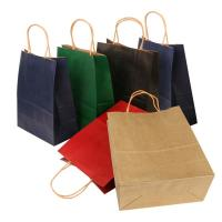 Wholesale Flat Bottom Personalized Brown Paper Bags With Paper Twisted Cord Handle from china suppliers