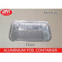 Wholesale 660ml Volume Aluminum Disposable Food Containers , Tin Foil Food Trays F660 Grill Pan from china suppliers