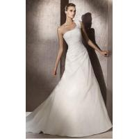 Wholesale One-Shoulder Net Tulle Wedding Dress (OGT011KN) from china suppliers