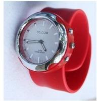 Red / Yellow Silicone Wristband Watch For Kids , Digital Led Mirror OEM