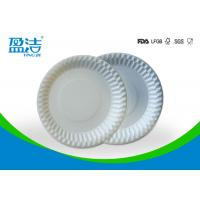 Wholesale Food Contact Safety Bulk Disposable Plates , Biodegradable Paper Plates For Barbeque from china suppliers