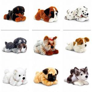 China KEEL PLUSH DOG SOFT TOYS plush dog toy  PUG LABRADOR WESTIE BULLDOG DALMATIAN & MORE on sale