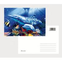 Wholesale OK3D eco-friendly materials pp pet 3D postcards plant flip effect lenticular postcards 3 views changing postcards prints from china suppliers