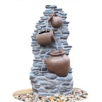 China Customize Size Contemporary Outdoor Patio Water Fountains With Lights wholesale