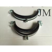 Wholesale 150 mm Heavy Duty Pipe Clamps With Rubber Lined M8 / M10 Nut Connection from china suppliers