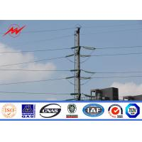 Buy cheap Polygonal 80ft 69kv Metal Steel Electricity Substations  Poles With Mast Galvanized Structure from wholesalers