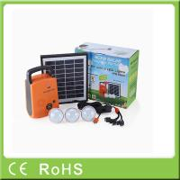 China 4W 9V lithium battery with radio portable lighting panel home solar systems wholesale