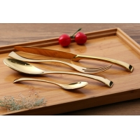 Wholesale Rainbow Copper Rose Gold Plated SS304 Wedding Cutlery Set from china suppliers