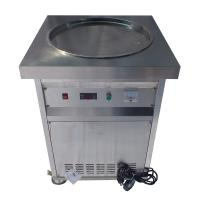 Wholesale Single Round Pan Stir Thai Rolled Ice Cream Machine / Fried Ice Cream Maker from china suppliers
