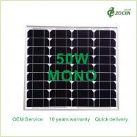 China Monocrystalline 50W Solar Panels Works in Sunny Overcast Conditions on sale