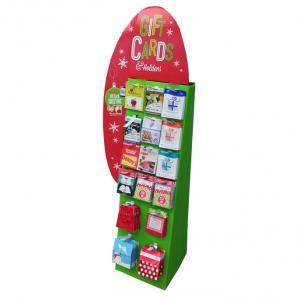 China Creative design cardboard display shelf for gift cards wholesale