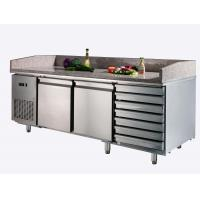 Wholesale 7 Drawers Stainless Steel Pizza Counters , High Efficiency Refrigerated Prep Station from china suppliers