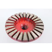 3 Inches 24 - Segment Diamond Cup Wheel No Jumping During Grinding Long Work Life
