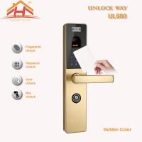 Wholesale Touch Screen RFID Card Biometric Fingerprint Door Lock With Keyless , CE / FCC from china suppliers