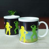 China Matching couple mugs heat sensitive color changing mugs 300ml wholesale