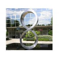 Wholesale Number Eight Large Steel Sculptures , Stainless Steel Garden Sculptures from china suppliers