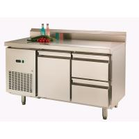 Wholesale Backrest Stainless Steel Pizza Prep Station 225L One Door , -16℃~-20℃ from china suppliers