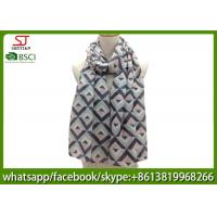Wholesale China trader oversized herringbone long print scarf muffler 90*180cm 100% Polyester pashmina keep in uniforms from china suppliers