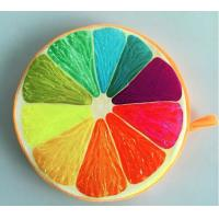 Quality Hot selling high quality customized fruit printed round cushion for sale
