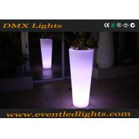 China Muti - Colors Illuminated Garden Pots / High Stand Colorful Flower Pots For Private Courtyard wholesale