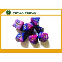 Wholesale Acrylic Resin Metal Play Gaming Accessories Aqua Blue Opaque Dice 7 Piece Set With Bag from china suppliers