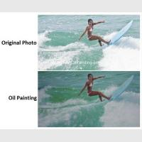 Buy cheap Realistic Custom Oil Painting Portraits Surf Lady Sports Oil Paintings From from wholesalers