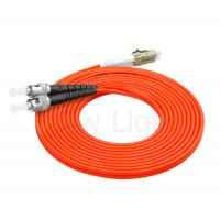 Wholesale multi mode ST-LC connector optical fiber patch cord 3.0mm duplex PVC orange cable from china suppliers