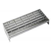 Medium Duty Steel Stair Treads Grating ISO Certificated Aesthetic Appearance