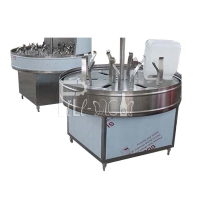 Wholesale 3000BPH Glass Cans Water Bottle Filling Machine With Semi Auto Rinser from china suppliers