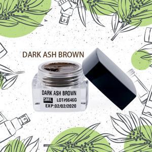 Semi Permanent Makeup Pigment Dark Ash Brown For Darker / Yellow Skinned People
