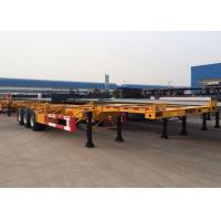 Wholesale Tri Axle 40 Ft Gooseneck Skeleton Semi Trailer For Chemical Tanker Container from china suppliers