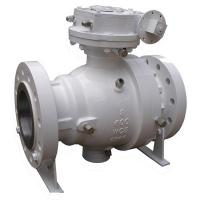 Wholesale Full Port 2PC Trunnion Mounted Ball Valve 10 Inch Flange End With Worm Gear from china suppliers