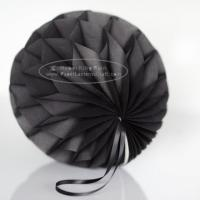 Wholesale Dark Grey Tissue Paper Honeycomb Balls Pom Poms With Satin Ribbon Loop For Hanging from china suppliers