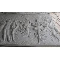 Wholesale white marble carved panel by hand from china suppliers