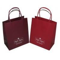 Buy cheap Recyclable Flat bottom 200gsm kraft CYMK Coloured Paper Bags With Handles (wist from wholesalers